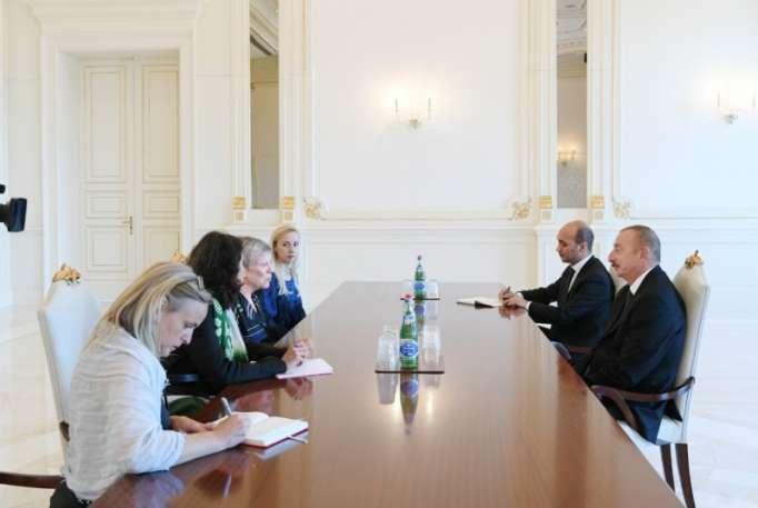 NATO baş katibinin müavini İlham Əliyevlə görüşüb