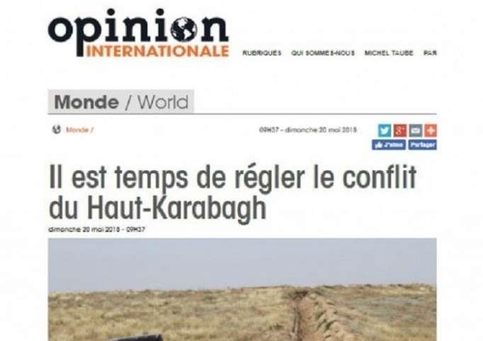 Le portail «OpinionInternationale» parle duconflit du Haut-Karabagh