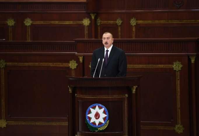 Prezidentin Milli Məclisdəki çıxışı