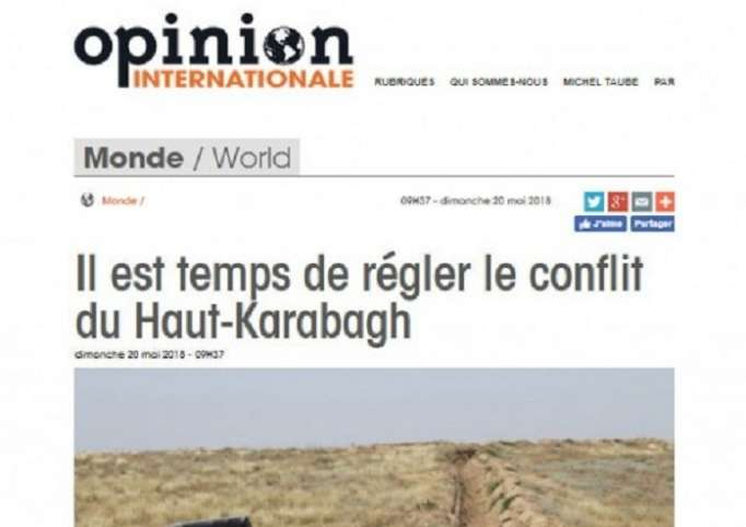 """Opinion Internationale"": Es hora de resolver el conflicto de Nagorno-Karabaj"