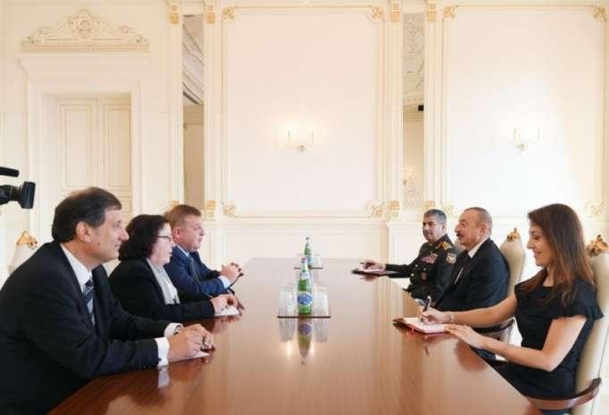 Bolqarıstanın müdafiə naziri İlham Əliyevin qəbulunda
