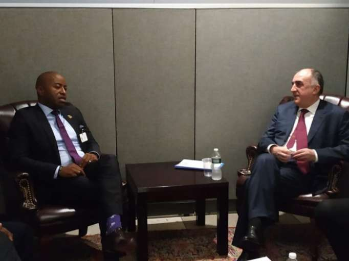 Azerbaijani FM meets with his counterparts from Venezuela, Bahamas in New York