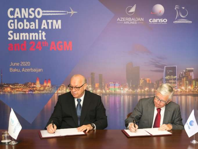 AZAL inks agreement to hold CANSO-2020 Global Summit in Baku