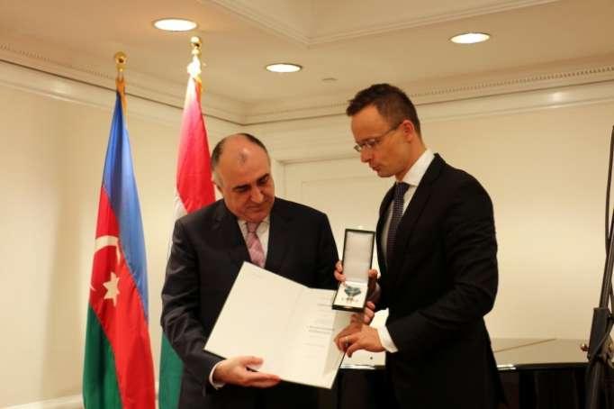 FM Mammadyarov awarded Commander's Cross of Order of Merit of Hungary
