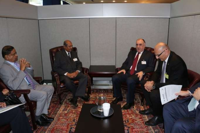 Azerbaijani FM holds bilateral meetings in New York