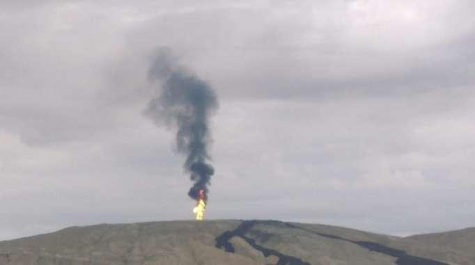 Bakıda vulkan püskürən ərazidən görüntülər - VİDEO