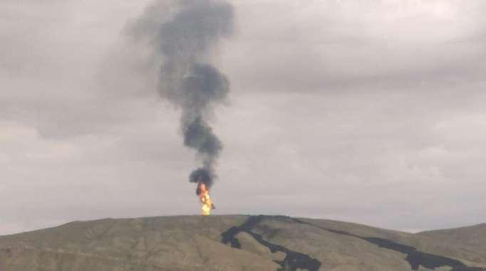 Bakıda vulkan püskürüb: Alovun hündürlüyü 300 metrdir - (FOTO)
