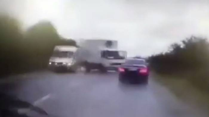 WATCH moment presidential car smashes into truck in Moldova -NO COMMENT