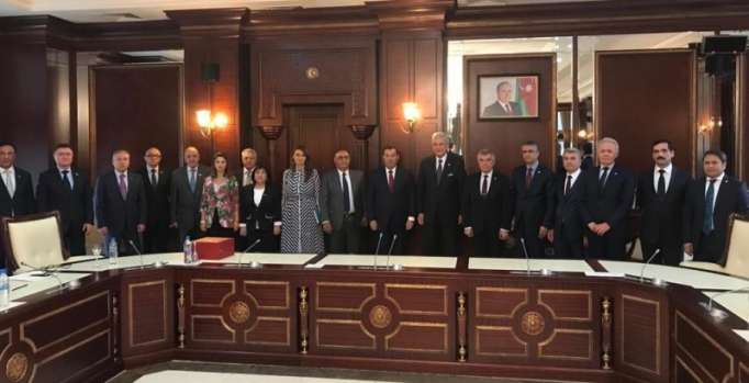 Türkiyəli deputatlar Milli Məclisdə olublar