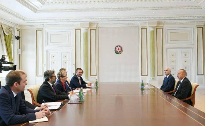 President Aliyev receives delegation led by Czech minister of industry and trade
