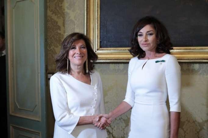 Mehriban Əliyeva İtaliya Senatının sədri ilə görüşüb