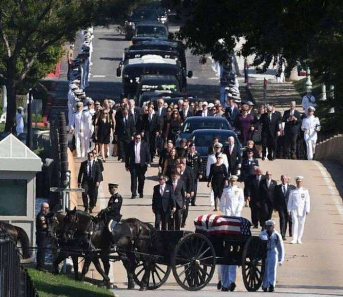 John McCain funeral: Senator laid to rest at US Naval Academy