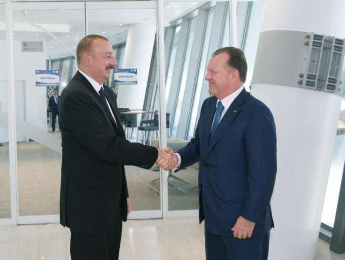 Prezident və birinci xanım Marius Vizer ilə görüşüb -