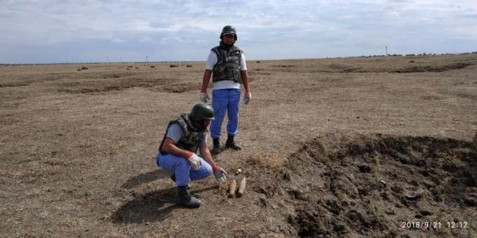 Cəlilabadda partlamamış hərbi sursat tapılıb