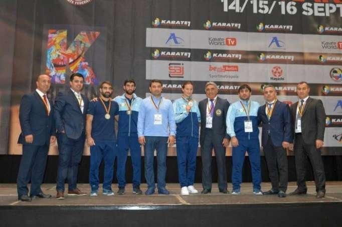 Karateçilərimiz Berlində 3 medal qazanıb