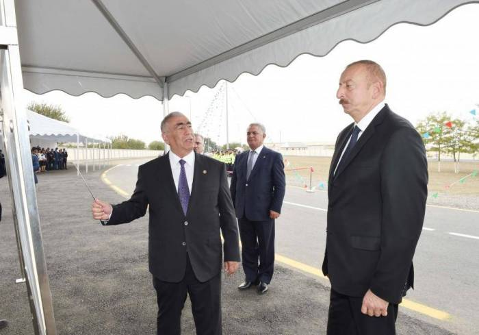 Azerbaijani president arrives in Bilasuvar district - UPDATED