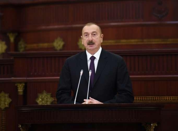Prezident Milli Məclisin təntənəli iclasında - FOTOLAR (Yenilənib)