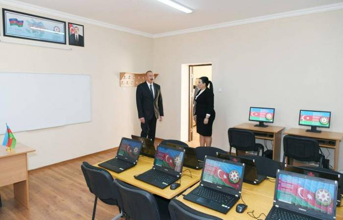 President Ilham Aliyev visits schools in Baku after major overhaul - PHOTOS