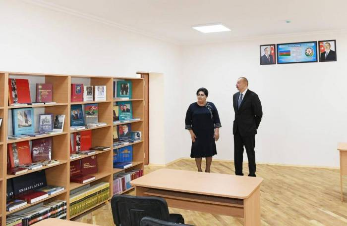 President Aliyev views newly reconstructed school in Mashtagha settlement