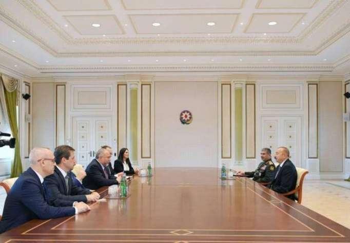 Ilham Aliyev receives Israel