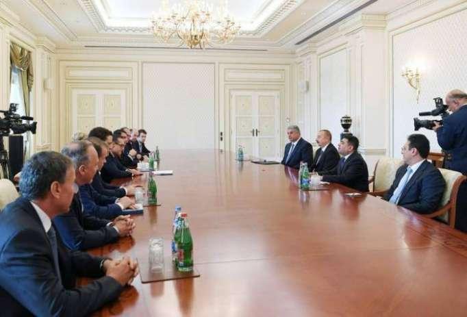 Le président Aliyev reçoit la délégation menée par le vice-chancelier autrichien