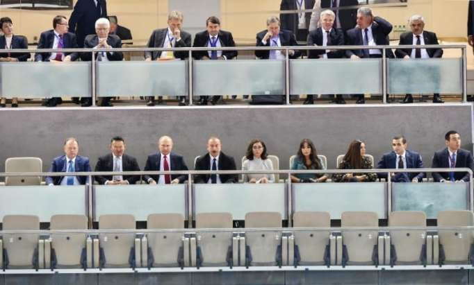 Azerbaijani, Russian presidents watch mixed team competitions at Judo world championships- UPDATED, PHOTOS