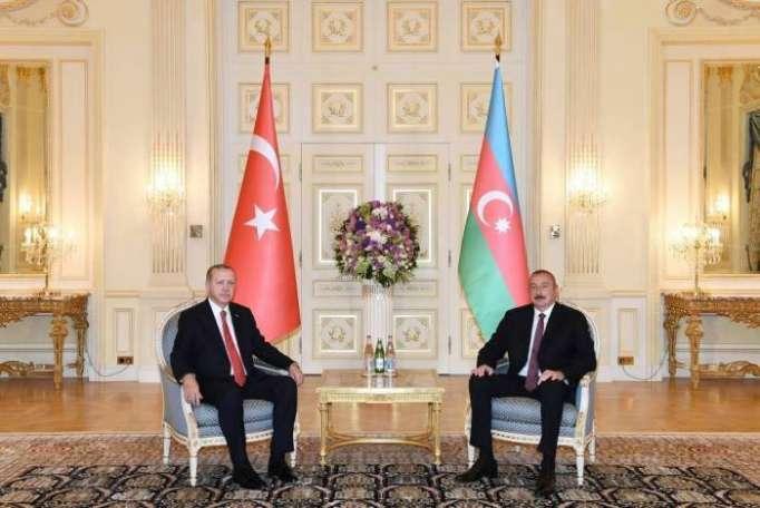 الرئس الهام علييف يجتمع بأردوغان