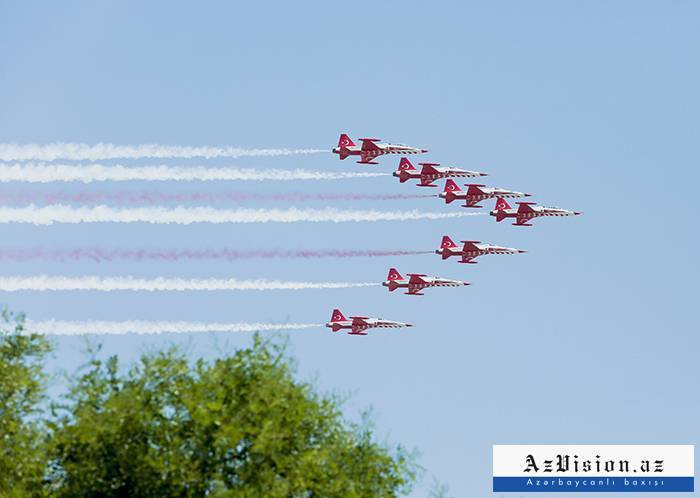 """Turkish Stars"" aviation group arrived in Azerbaijan - PHOTOS"