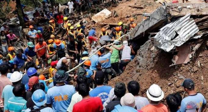 Se eleva a 74 la cifra de muertos por la embestida del tifón Mangkhut a Filipinas
