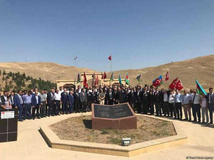 Monument honoring Turkish martyr soldier opens in Shamakhi after overhaul - PHOTOS