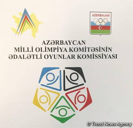 Logo of Azerbaijani Fair Play Commission presented in Baku