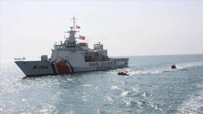 Turkish coast guard detaines about 40 illegal immigrants