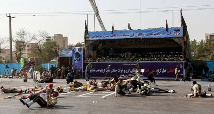 الحادث الإرهابي جنوب غرب إيران-فيديو