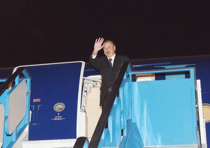انتهت زيارة إلهام علييف إلى تركيا