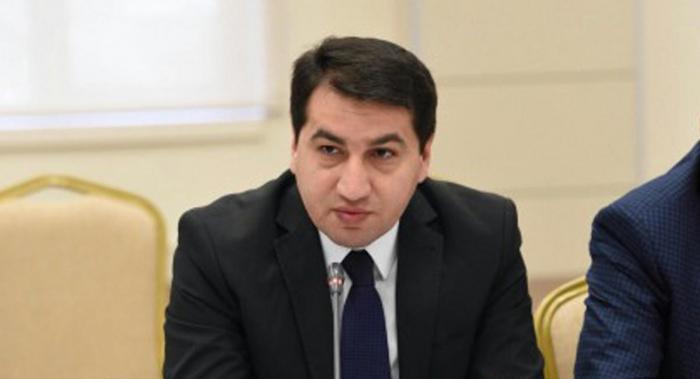 Paşinyanın açıqlamaları destruktiv xarakter daşıyır - Hikmət Hacıyev