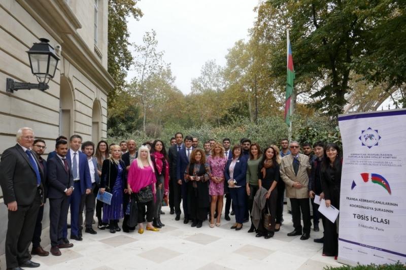 Fransa Azərbaycanlılarının Koordinasiya Şurası yaradılıb