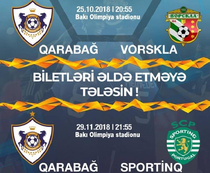 """""""Qarabağ""""ın oyunlarının biletləri satışda"""