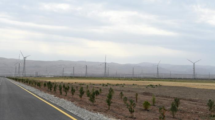 """Windkraftpark """"Yeni Yaşma"""" im Bezirk Khizi in Betrieb genommen"""