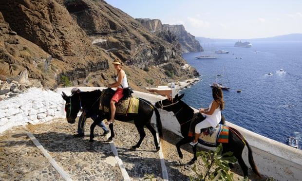 Santorini to target overweight tourists with donkey weight limit