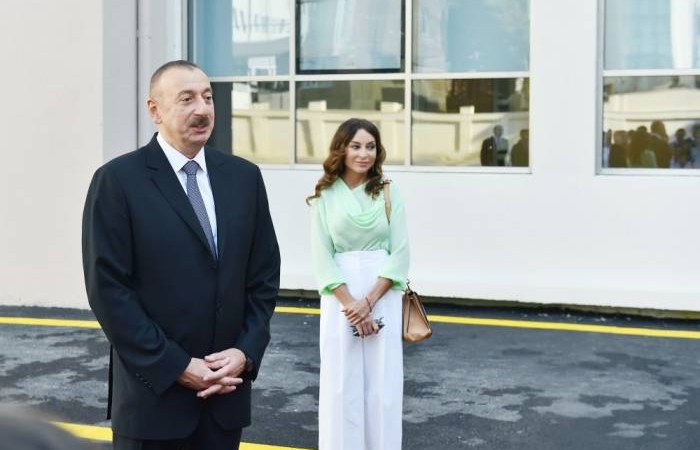 Azerbaijani president, first lady visit Lankaran district, attend openings - UPDATED