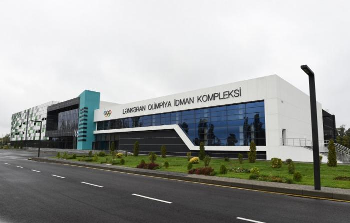 Lenkoran: Staatspräsident Ilham Aliyev weiht neuen Olympia-Sport-Komplex ein