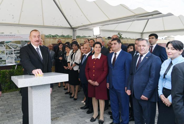 Prezident Lerikdə su təchizatı ilə bağlı mərasimdə