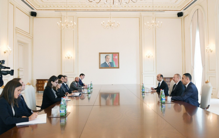 President Ilham Aliyev receives delegation led by president of Italian Senate