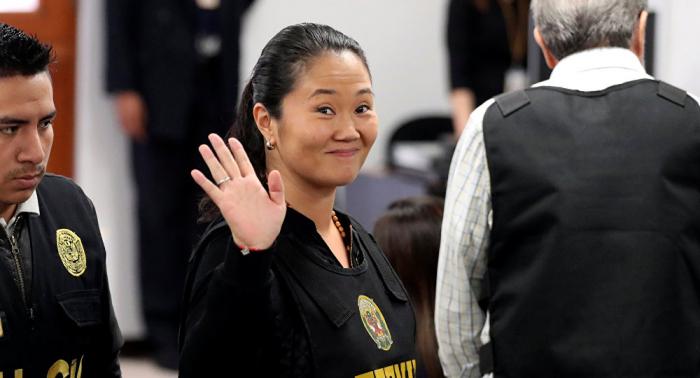 Anulan la detención preliminar de Keiko Fujimori