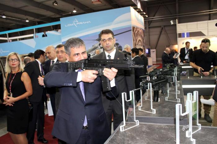 Azerbaijani defense minister attends Future Forces Int'l Exhibition 2018 - PHOTO