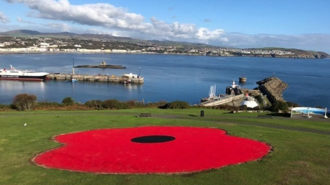 Giant poppy installed as permanent World War One