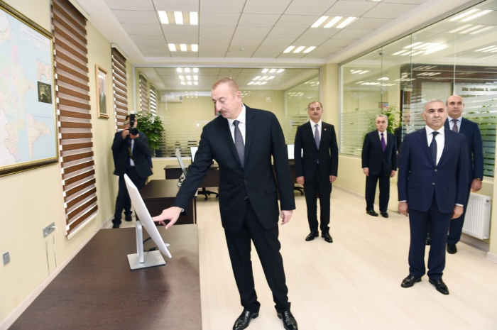 İlham Əliyev daha bir açılışda