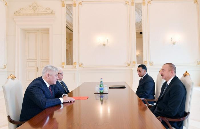 Prezident Rusiyanın daxili işlər nazirini qəbul edib