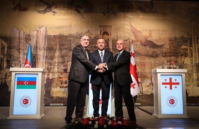 Azerbaijani, Turkish, Georgian FMs hold trilateral meeting in Istanbul