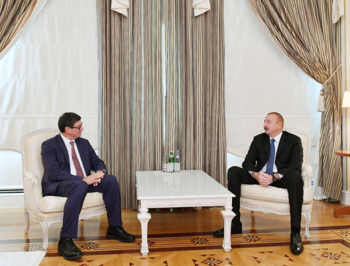 Azerbaijani president receives delegation of Swiss Confederation